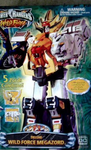 MISB Power Rangers Dx Megazord 2002 Wild Force FS 10211 - 5 Zords Combiner