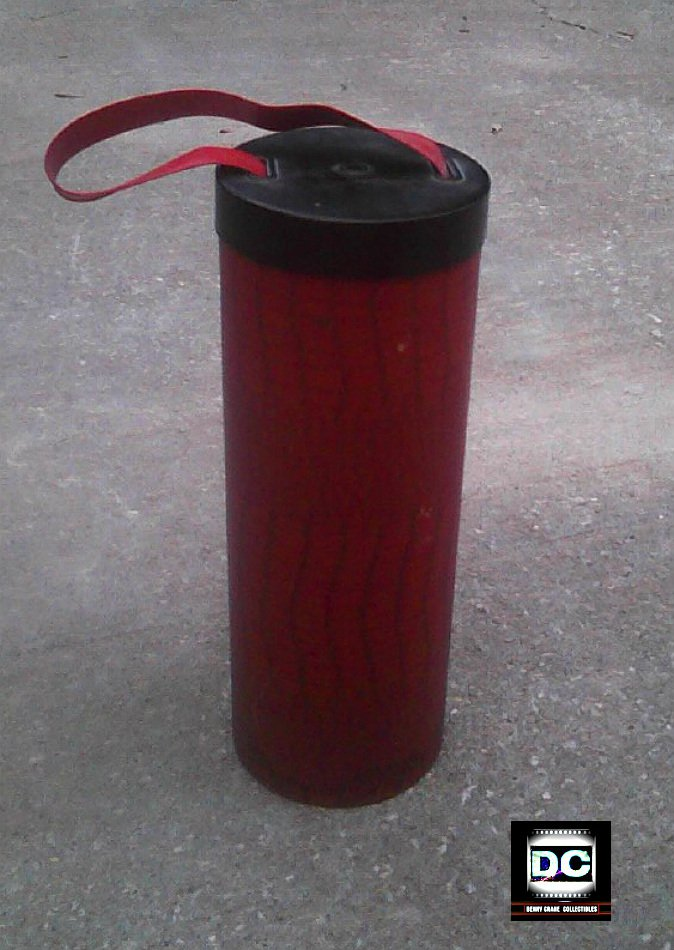 """Vintage Wine Bottle & Beverage Tube-Xmas Decor-Holidays Gift/ Multi-Purpose Container, 14"""" tall"""