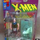 X-Men Canadian Grand Toys Mutant Bonebreaker + Fleer Card Ultra Chase-Hildebrandt Art, 1994 Toybiz