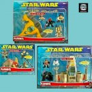 Playskool Galactic Heroes Star Wars Playset Lot (Luke X-Wing+Naboo+Geonosis Arena)
