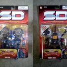 "Bandai SD Gundam: Knight Vayeate & Pawn Leo Soldier Set Superior Defender Figure SDX 5"" 2004 MOC"