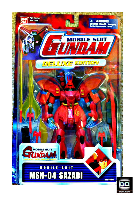 "Sazabi Msn-04 Msia Action Figure 4.5"" Bandai Mobile Suit #11642 [Char's]"