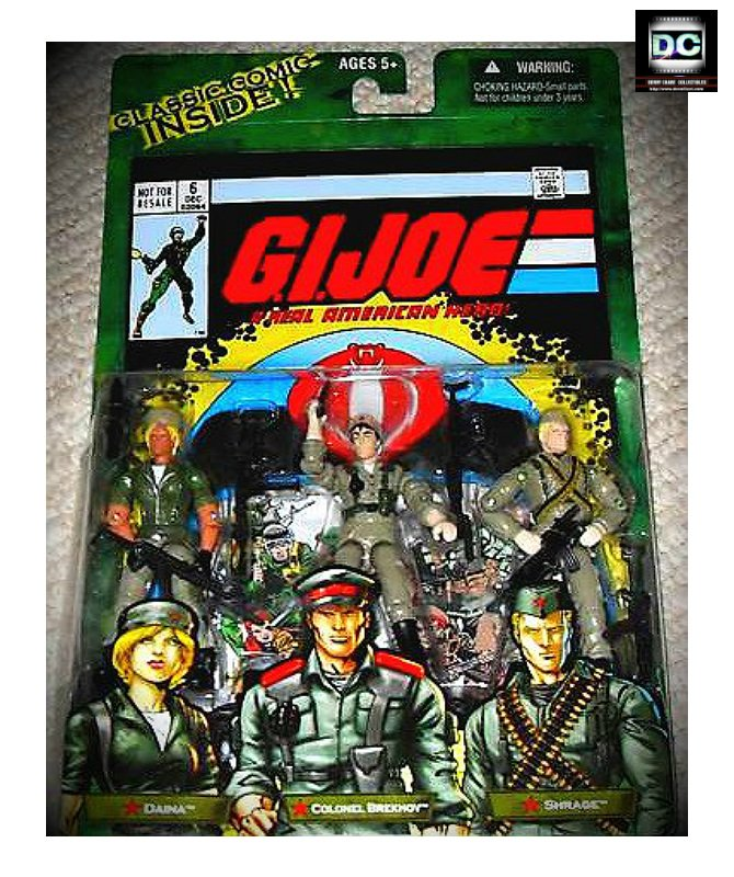 Hasbro GI Joe 60499: Oktober Guard > Daina Brekhov Shrage Marvel Comic 3 Pack #6 2005
