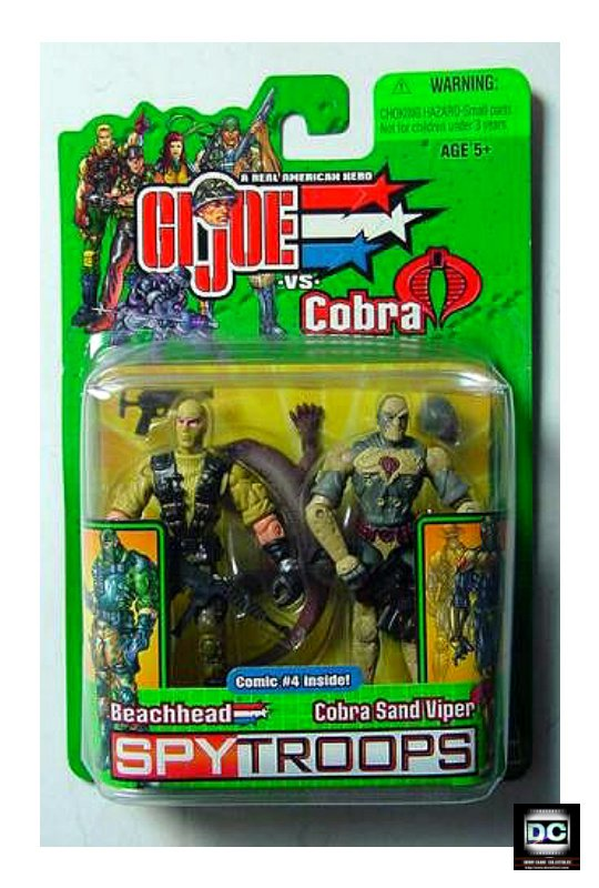 Beachhead vs Cobra Sand Viper GI Joe Comic 2 Pack 2003 Hasbro Spy Troops 57420