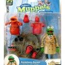 "Koozebane Kermit (Reporter), Muppet 6"" Figure, Series 4 Palisades Target 2003 Henson Sesame St."