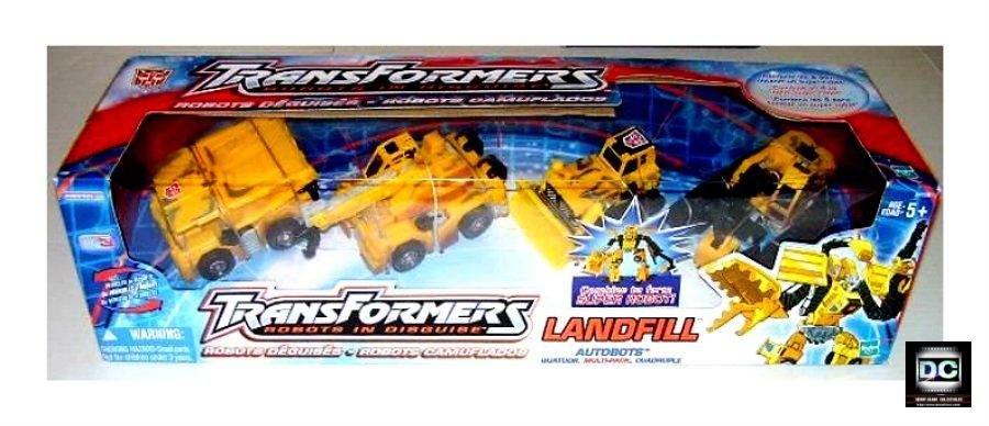 """G2 Devastator Constructicon Combiner """"Landfill"""" Giftset-Transformers 2002 RiD (1992 Vers) Build King"""