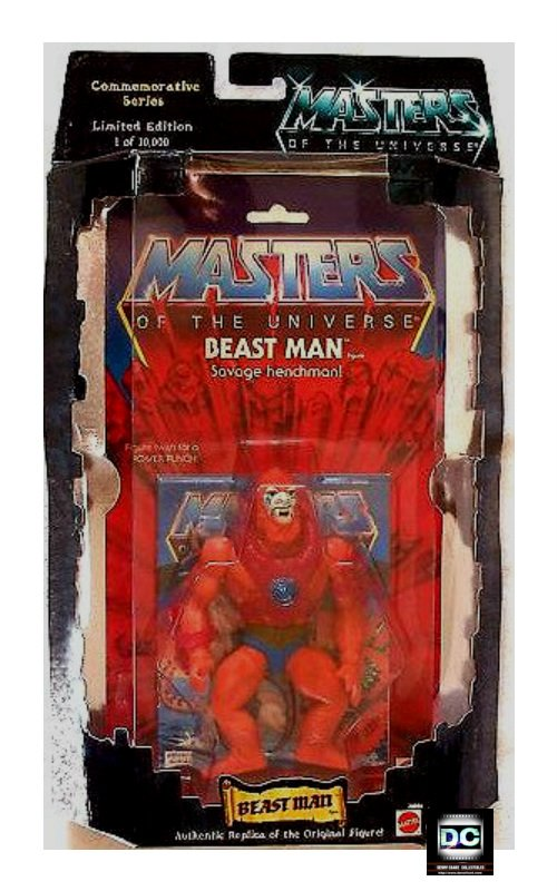 MOTU 1981 Beast Man Figure + Minicomic Classic Commemorative Retro He-Man � Legends of Eternia