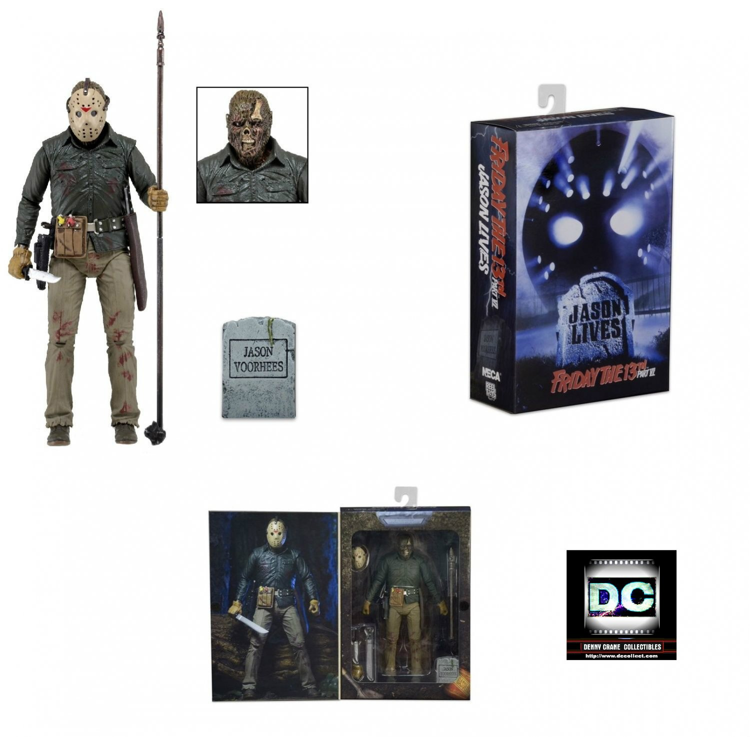 Friday 13th Part 6 Ultimate 30th Jason Voorhees NECA 7-In 18cm Action Figure 2015 Reel Toys 39714