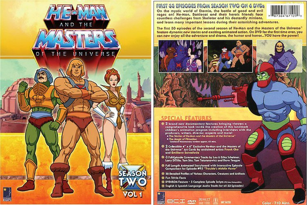 He-Man/MotU Classic S-2 Vol 1 DVD Ltd  Box Set 80's