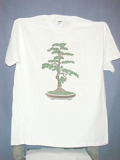 Large White Bonsai Tree T Shirt