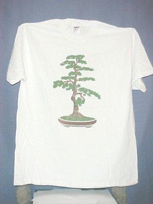 Extra Large White Bonsai Tree T Shirt