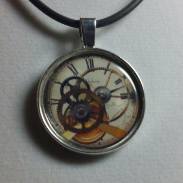 Steampunk Art Pendant Necklace Steampunk Gears Jewelry