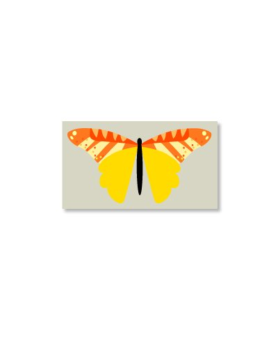 Butterfly Magnet Yellow