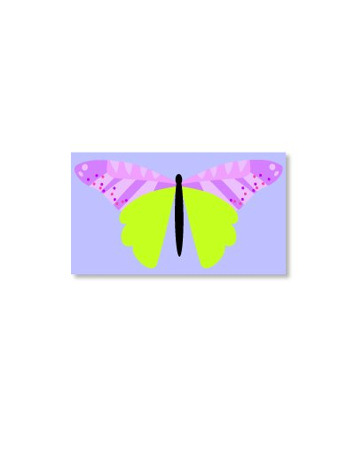 Butterfly Magnet Violet
