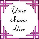Ebay Store Logo Pink Border Dress Up your Ebay Store Add your Store Name!!