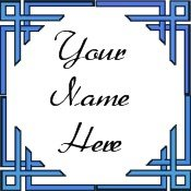 Ebay Store Logo Blue Border Dress Up your Ebay Store Add your Store Name!!
