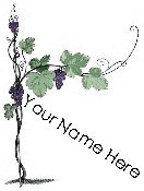 Ebay Store Logo Grape Vine Purple Green Dress Up your Ebay Store Add your Store Name!!