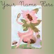 Ebay Store Logo Flower Fairy Green Pink Dress Up your Ebay Store Add your Store Name!!