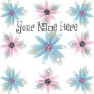 Ebay Store Logo Pink Blue Flowers Summer Dress Up your Ebay Store Add your Store Name!!