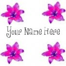 Ebay Store Logo Pink Flowers Lily Lilies Dress Up your Ebay Store Add your Store Name!!