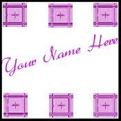 Ebay Store Logo Pink Purple Tile Border Dress Up your Ebay Store Add your Store Name!!