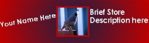 Ebay Store Logo Red Gray Quail Bird Dress Up your Ebay Store Add your Store Name!!