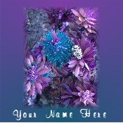 Ebay Store Logo Blue Purple Flowers Floral Dress Up your Ebay Store Add your Store Name!!