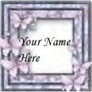 Ecrater Store Logo & HomePage Image Gray Pink Butterfly Dress Up your Ecrater Store Add your Name!
