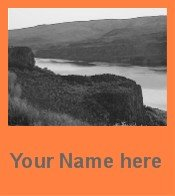 Ecrater Store Logo & HomePage Image Cliffs Sunset Orange Dress Up your Ecrater Store Add your Name!