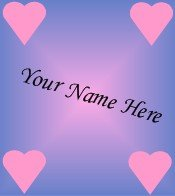 Ecrater Store Logo & HomePage Image Pink Purple Hearts Dress Up your Ecrater Store Add your Name!