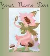 Ecrater Store Logo & HomePage Image Green Flower Fairy Dress Up your Ecrater Store Add your Name!
