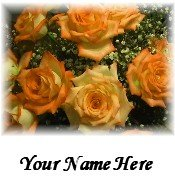 Ecrater Store Logo & HomePage Image Orange Flower Bouquet Dress Up your Ecrater Store!!
