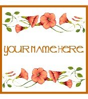 Ecrater Store Logo & HomePage Image Orange Morning Glory Flower Dress Up your Ecrater Store!!