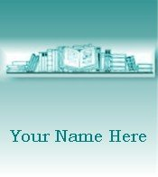 Ecrater Store Logo & HomePage Image Teal Green Book Shelf Dress Up your Ecrater Store!!