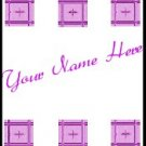 Ecrater Store Logo & HomePage Image Pink Mauve Tile Border Dress Up your Ecrater Store!!