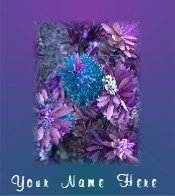 Ecrater Store Logo & HomePage Image Purple Blue Hawaiian Flower Dress Up your Ecrater Store!!