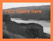 Neoloch.com Store Banner and Logo Combo Orange Sunset Mountain Cliff Add your Store Name!