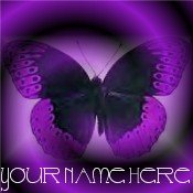 Neoloch.com Store Banner and Logo Combo Purple Butterfly Add your Store Name!