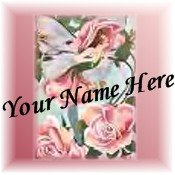 Neoloch.com Store Banner and Logo Combo Pink Green Flower Fairy Add your Store Name!