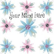 Neoloch.com Store Banner and Logo Combo Pink Blue Flowers Summer Add your Store Name!