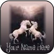 Neoloch.com Store Banner and Logo Combo White Horses Add your Store Name!