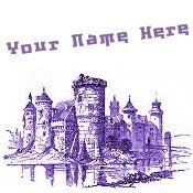Neoloch.com Store Banner and Logo Combo Purple Medieval Castle Add your Store Name!