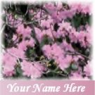 Neoloch.com Store Banner and Logo Combo Pink Azealeas Flowers Add your Store Name!