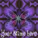 Neoloch.com Store Banner and Logo Combo Purple Black Butterfly Add your Store Name!