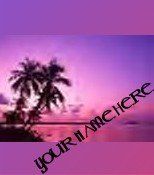 Neoloch.com Store Banner and Logo Combo Hawaii Island Sunset Pink Purple Add your Store Name!