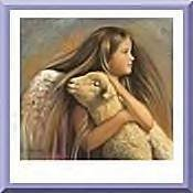 Neoloch.com Store Banner and Logo Combo Angel with baby Lamb  Add your Store Name!