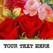 Neoloch.com Store Banner and Logo Combo Red Roses Flowers Add your Store Name!