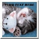 Neoloch.com Store Banner and Logo Combo Kitten Cat Snuggling Add your Store Name!