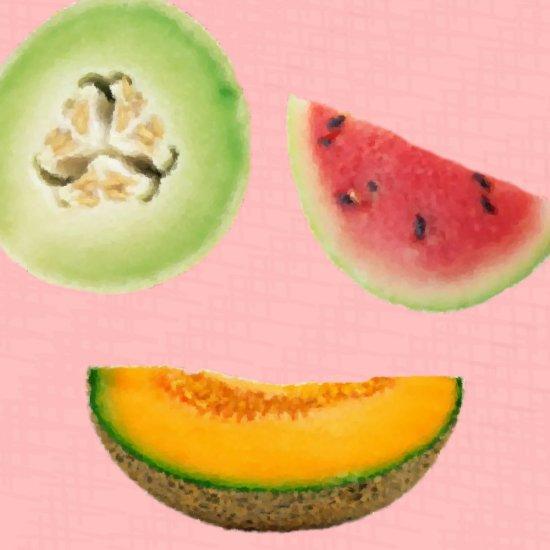 Summer Melon - 8x8 Print