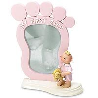 Pink Baby's First Step Frame